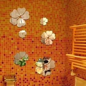 MIRROR FLOWER ART WALL ACRYLIC MURAL DECAL