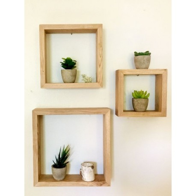 rectangle art en bois