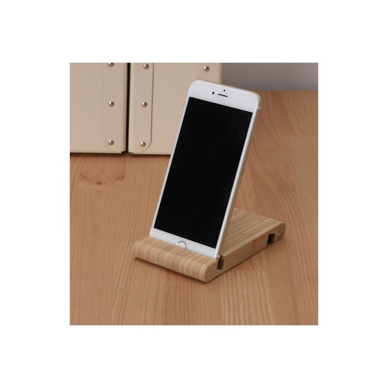 Support téléphone Abdo  en bois