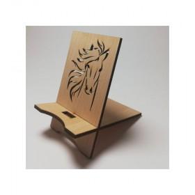 support de téléphone en bois