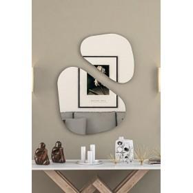 Miroir décoration argenté Nv design